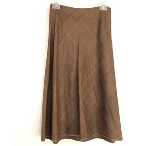 BROOKS BROTHERS 100% Silk A Line Skirt